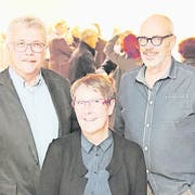 Stadtrat Ernst Zülle, Stadträtin Barbara Kern und Bodan-Quartierpräsident Bernard Roth. (Bild: Barbara Hettich)