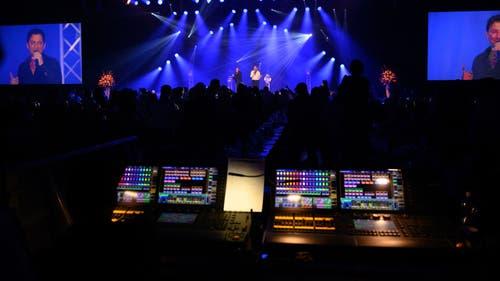 Auf der Bühne: Das Schlagerduo «Fantasy».