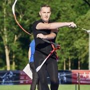 Remo Murer trat für den DTV Muhen in der Gymnastik an und ist für die offiziellen Events am Turnfest verantwortlich. (Bild: Colin Frei, Aarau)