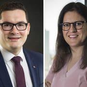 Spannender Zweikampf: David Zuberbühler (SVP) und Jennifer Abderhalden (FDP). (Bilder: pd/Adriana Ortiz Cardozo)