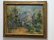 Philippe Cézanne informiert über das Gemälde seines Grossvaters Paul Cézanne im Kunstmuseum Bern. (Bild: Lukas Lehmann/KEY)