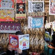 Viele kulturelle Institutionen mussten wegen des blockierten Stadt-Budgets auf Geld warten. Darunter auch das Fumetto-Comicfestival. (Archivbild Alexandra Wey/Keystone)
