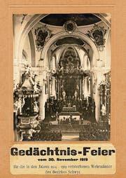 Bild der Gedächtnisfeier vom 30. November 1919 in der Pfarrkirche Schwyz. (Bild: Pfarrarchiv Schwyz)