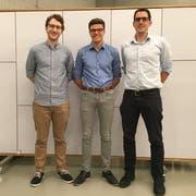 Der neugegründete Vorstand der GLP Ortssektion Horw (v. l. n. r.): André Miotti, Daniel Rose (Präsident), Cyrill Kilchoer. (Bild: PD)