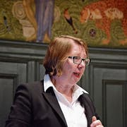 Professorin Elsbeth Stern referiert bei Pro Kanti Frauenfeld. (Bild: Mathias Frei)