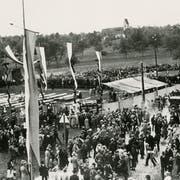 Blick in die Vergangenheit: Das 13. Luzerner Kantonale Schwingfest 1932 in Rothenburg. (Bild: PD)