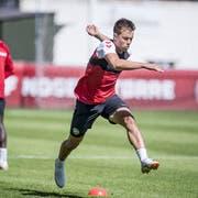 Jonas Knudsen im Training. (Keystone)