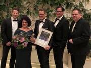 Die Vertreter der Confiserie und Bäckerei Mohn an der Preisverleihung in Berlin. (Bild: PD)
