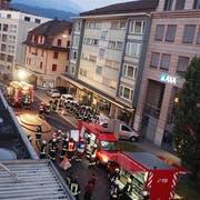 Bild des nächtlichen Einsatzes in Emmen (Bild: Feuerwehr Emmen)