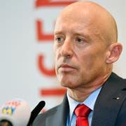 Patrik Gisel wird nur noch bis Ende Jahr Chef der Raiffeisenbank sein. (Bild: Keystone)