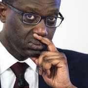 CS-Chef Tidjane Thiam war angezählt, hat sich aber halten können. Sein COO hat die Verantwortung übernommen und geht. (Bild: KEY)
