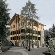 So soll das neue Gasthaus Hergiswald aussehen, sobald es fertig ist. (Bild: PD)