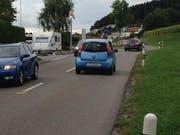 Diese Strasse zwischen Eschlikon und Sirnach wird als zu eng empfunden. (Bild: Bikeable)