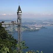 Der Lift befördert tagtäglich Besucherinnen und Besucher auf die Hammetschwand. (Bild: PD)