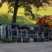 Die Unfallstelle in Sursee (Bild: Leserreporter)