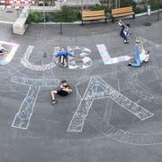 Die Jubla-Gruppen werben seit Wochen für den Jubla-Tag vom Samstag. (Bild: PD)
