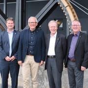 Der Vorstand des regionalen Branchenverbandes Transportunternehmungen Zentralschweiz (TUZ) auf dem Stanserhorn (von links): Tobias Matter (Titlis Bahnen), Sepp Odermatt (Präsident), Michael Roost (Auto AG Uri) und Godi Koch (Pilatus Bahnen).