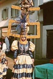 Reiner Christen an früheren Fasnächten in Aktion, oben im Jahr 1990, unten 1988. (Bilder: PD)