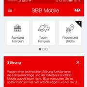 Das wird momentan den App-Nutzern angezeigt. (Bild: Screenshot)