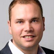 Benjamin Büsser, Fraktionschef der SVP Wil. (Bild: Philipp Wiget)