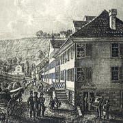 1854 eröffnet Christian Fischbacher am Oberen Graben 22 in St.Gallen sein erstes Geschäft. (Bild: PD)