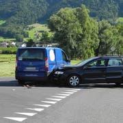 Der Unfallort bei Reichenburg (Bild: Kapo Schwyz)