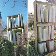 Augenfällig: die Grabstätte von Hermann Steiner-Stoll (1917-2001) auf dem Chamer Friedhof. (Bilder: Andreas Faessler, Cham, 29. Februar 2019)