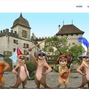 Die virtuellen Murmeltiere der neuen Kultur-App «Sqwiss» sollen Wanderfreunde künftig durch die ganze Schweiz führen. Vorerst sind sie auf dem Wanderweg «ViaUrschweiz» im Einsatz. (Screenshot) (Bild: Sqwiss.ch)