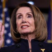 Die demokratische Mehrheitsführerin im US-Repräsentantenhaus: Nancy Pelosi. (Bild: KEYSTONE/EPA/ERIK S. LESSER)