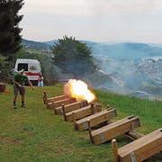 Die Hergiswiler Herrgottskanoniere feuern wieder. (Bild: PD)