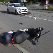 Beim Unfall wurde die Rollerfahrerin verletzt. (Bild: Kantonspolizei Uri, 13. Juni 2019)