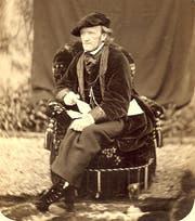 Richard Wagner im Park seines Landhauses in Tribschen. (Bild: Wagner Museum Luzern)