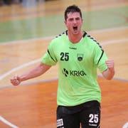 Jernej Papez bei einem Spiel mit seinem früheren Verein Krka. Bild: (zvg)