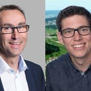 Alfons Brühwiler und Daniel Bürgi kandidieren für einen vakanten Sitz im Fischinger Gemeinderat. (Bilder: PD)