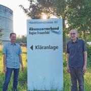 Der neue Ara-Betriebsleiter David Zimmerli und sein langjähriger Vorgänger Bernhard Scheiwiller. (Bild: PD)