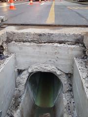 Seit Mitte Mai wird der Abwasserkanal unter der Pilatusstrasse saniert. (Bild: Stadt Luzern)