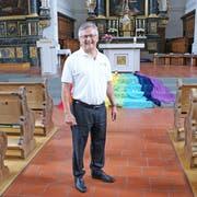 OK-Präsident Josef Elmiger in der Pfarrkirche Hitzkirch, in der just am 14. Juni 2019 das Innerschweizer Gesangfest mit dem Eröffnungskonzert beginnen wird. (Bild: zVg)