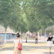 So sieht das 2016 vorgestellte Siegerprojekt «Take a walk on the bright side» für die Umgestaltung der Luzerner Bahnhofstrasse aus. (Visualisierung: PD)