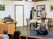 Die Mitglieder der Theatergruppe Berg bei ihrer letztjährigen Produktion «Mer Puure händs luschtig». (Bild: PD)