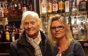 Sein letzter Besuch im «Down»: Gérard Braid mit Tochter Pascale. (Bild: PD, Luzern 21. März 2019)