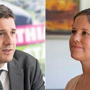 Herausforderer: Mathias Zopfi will in den Ständerat, Priska Grünenfelder kandidiert für den Nationalrat. (Bilder: Sasi Subramaniam)