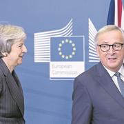 Theresa May und Jean-Claude Juncker beim Treffen im Hauptquartier der EU-Kommission. (Thierry Monasse/Getty, Brüssel, 21. November 2018)
