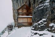Noch sind die Türen des «Aescher» geschlossen – im Mai öffnet die Bergbeiz wieder. (Archivbild: Keystone)