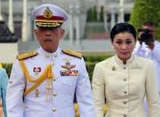 Thai King Maha Vajiralongkorn and Queen Suthida. (EPA, Bangkok, 2. Mai 2019)