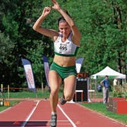 Alina Tobler ist im Dreisprung die Zweite der Schweizer Jahres-Bestenliste. (Bild: Martin Steger)