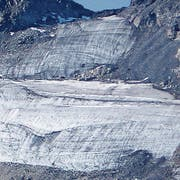 Der Pizolgletscher schmilzt - Aufnahme von 2006. (Bild: Schweizerisches Gletschermessnetz)
