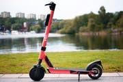Das E-Skooter-Modell «Voiager 2». Damit sollen gemäss «Voi»-Eigenwerbung urbane Astronauten ihre Stadt erkunden. (Bild: PD)