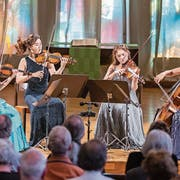 Fulminant und dynamisch: das südkoreanische Esmé Quartet gestern in Luzern. (Bild: Patrick Hürlimann/LF)
