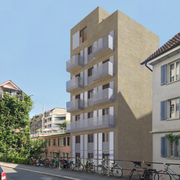 So soll der Bau an der Gibraltarstrasse aussehen. (Visualisierung: PD)