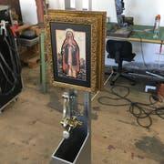 Blick ins Atelier von Ramon Brun, wo die bewegliche Installation entstanden ist. (Bild: PD)
